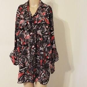 Kim Rogers Plus Size Button-Down Shirt NWT